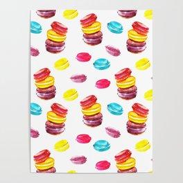 Sweet macaroons Poster