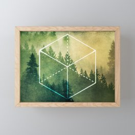 The Elements Geometric Nature Element of Earth Framed Mini Art Print