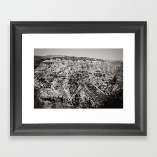 Retro Canyon Framed Art Print
