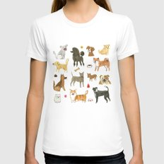 Who let the dogs out? Womens Fitted Tee White X-LARGE