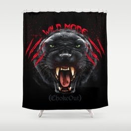 Wild Mode. Bjj, Mma, grappling Shower Curtain
