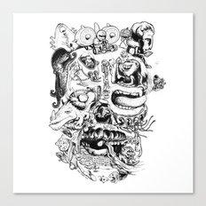 Skull - Inktober 2013 Canvas Print