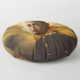 Barack Obama Poster, Classical Painting, Regal art, General, President, Democrat, Political Floor Pillow