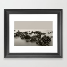 The sound of water Framed Art Print