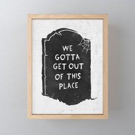 Dead End Framed Mini Art Print
