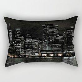 NYC Night Skyline 2015 Rectangular Pillow