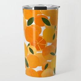mediterranean oranges still life  Travel Mug