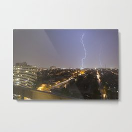 City Lightning. Metal Print