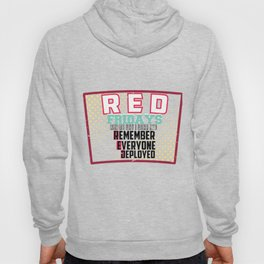 Marines Army Soldier Navy Memorial Day RED Fridays I Wear Red Veteran Gift Hoody
