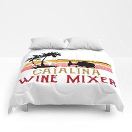 Vintage Catalina wine mixer Comforters