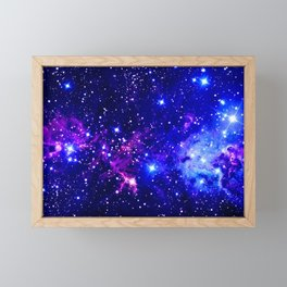 Fox Fur Nebula Galaxy blue purple Framed Mini Art Print