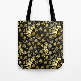 Tiger jungle animal pattern Tote Bag