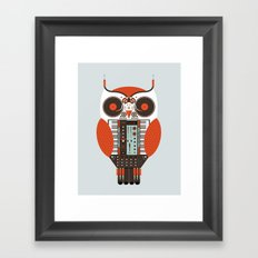 DJ Owl Framed Art Print