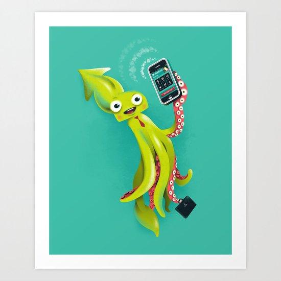 SQUID RINGS Art Print