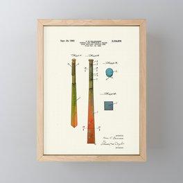 Patent drawing of a Baseball Bat - Circa 1960 Framed Mini Art Print