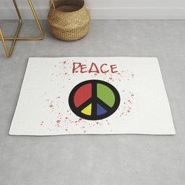 peace symbol Rug