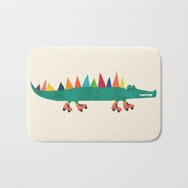 Crocodile on Roller Skates Badematte