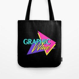 Graphic Wave / 80s Retro Tote Bag