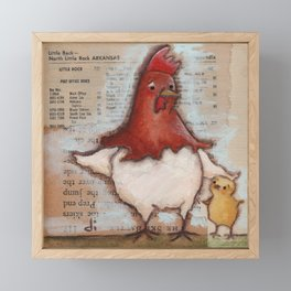 Mom and Me - by Diane Duda Framed Mini Art Print