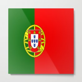 Flag of Portugal Metal Print