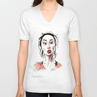 instagram V-neck T-shirts featuring Instagram 1 by artistathenawhite