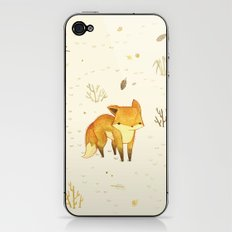 Lonely Winter Fox iPhone & iPod Skin
