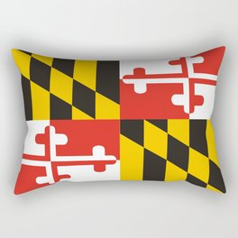 maryland state state flag united states of america country Rectangular Pillow