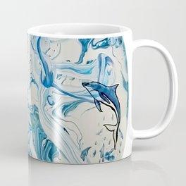 Blue Dolphin Planet Coffee Mug