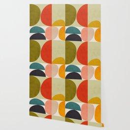 shapes of mid century geometry art Wallpaper