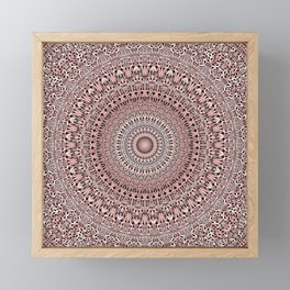 Light Pink Floral Mandala Magic Framed Mini Art Print