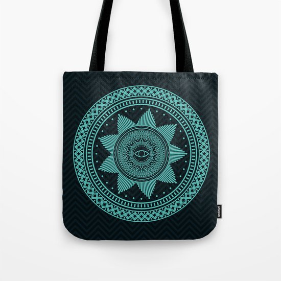 Eye of Protection Mandala Tote Bag