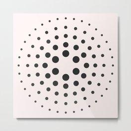 MidCentury Modern Bubblegum Spiral Dots Metal Print