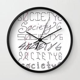 Six Society Sixes Wall Clock