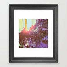OPTICAL HAZE (everyday 04.19.17) Framed Art Print