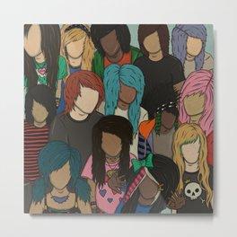 2000s Scene Kids Pattern Metal Print
