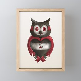 Xavier the Owl Framed Mini Art Print