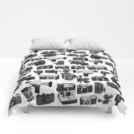 Cameras Black & White Comforters