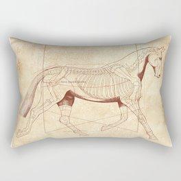 Da Vinci Horse: The Trot Revealed Rectangular Pillow