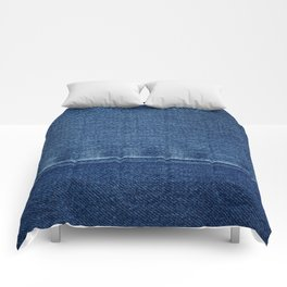 Blue Jean Texture V4 Comforters