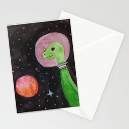 Space Dinosaurs Stationery Cards