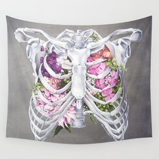 Floral Ribcage Wall Tapestry