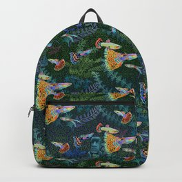 Guppy Rainbow Fish Backpack