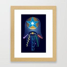 The Elemental Hamsa Framed Art Print