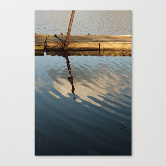 Two Waters and a Cloud Canvas Print