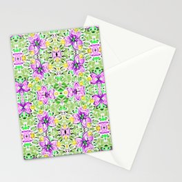 flowers and butterflies purple, the garden Stationery Cards