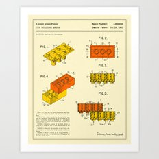BUILDING BRICKS (1961) Art Print