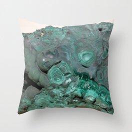 Natural Malachite Throw Pillow
