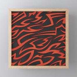 Tech Tribal ORANGE Framed Mini Art Print