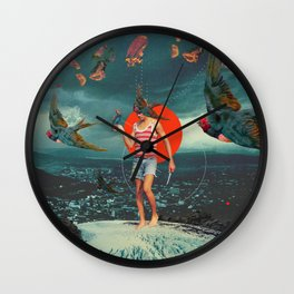 The Boy and the Birds Wall Clock