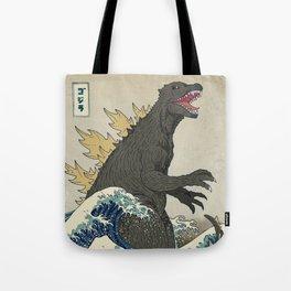 The Great Godzilla off Kanagawa Tote Bag